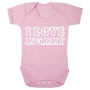 'I Love Mummy' pastel pink babygrow