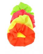Zac's Alter Ego® Set of 4 Hair Scrunchies - 1 Neon Pink, 1 Neon Orange, 1 Neon Green, 1 Neon Yellow