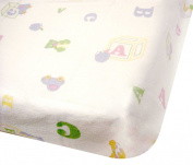 "Flannelette ""ABC"" Printed Flat Sheets for Moses/Prams"