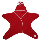 Tuppence and Crumble Star Baby Wrap Red Medium