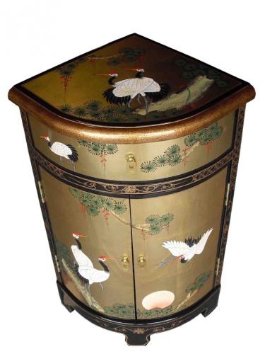 Oriental chinese furniture gold leaf corner cabinet with for Oriental furniture australia