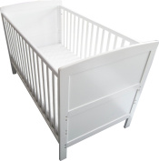 Babies Firsts Snow Cot Bed with Spring Mattress