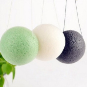 100% Natural Oil Control Face Cleaning Dry Konjac Sponge for Bathing or Body Shower