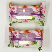 Castelbel of Portugal Luxury Triple Milled Soap Bath Bars 310ml - Two Bars, Jasmine and Water Lily