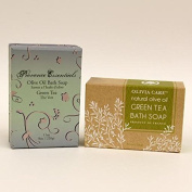 Olivia Care Luxury Olive Oil Bath Soap Green Tea 2 Bar Set - Assorted Luxury Packaging