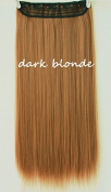One Piece Clip in Dark Blonde Straight Synthetic Hair Extensions 60cm