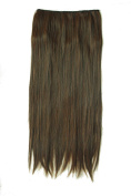 One Piece Clip in Dark Brown Straight Synthetic Hair Extensions 60cm