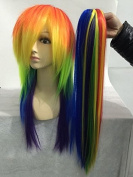 Sunny-business Rainbow Colour My Little Pony Friendship Cosplay Wig