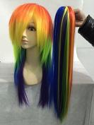 Sunny-business Rainbow Colour My Little Pony Friendship Cosplay Wig