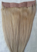 46cm 100% HALO Human Hair Extensions (ONE PIECE NO CLIP) # 18 Dark Blonde