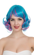 PINKISS High Quality Fashion Colourful Harajuku Lotita Style Cosplay Wig with Free Wig Cap