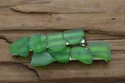 Genuine Green Sea Glass Barrette Hair Clips