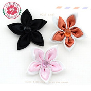 50 Pieces, Handmade Fashion Ribbon Flower Accessories Decorative Flower for Shoes