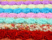 14 Pieces, Flowers 3d Rose Flower Chiffon Flower Lace Trim Materials Fabric, 19 Colour Wedding Bridal Chiffon Sashes