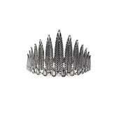 Kitsch Feather Bun Pin, Silver, 5ml