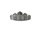 Kitsch Chevron Bun Pin, Silver, 5ml