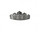 Kitsch Chevron Bun Pin, Silver, 5ml