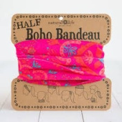 Natural Life Half Boho Bandeau Pink Red