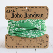 Natural Life Half Boho Bandeau Green