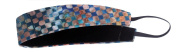 Banded No Slip Headband, Blue Batik, Wide