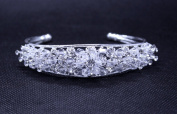 Exquisite Bridal Pageant Handmade Cuff Bangle use. Crystal