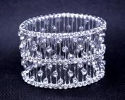 Exquisite Bridal Wedding Stretch Crystal Bangle Bracelet