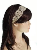 Women's Elegant Lace flower Elastic Hair Headband head band