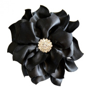 Flower Hair Clip Black Bridal Bridesmaid Mother of the Bride Girl
