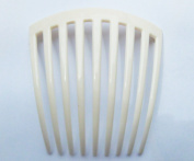 FRENCH TWIST HAIR COMB COLER WHITE 9 TOOTH IT DELUXE 1 PCS.