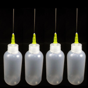 4 Needle Tip Plastic Bottle Dispenser Oil Solvent Ink Applicator Dropper 20ml