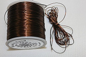High Quality - Elastic Cord - 0.8mm - 100 Metres / Spool - Stretchy Very Strong - Many Colours (Chocolate
