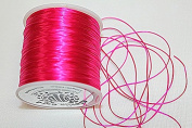 High Quality - Elastic Cord - 0.8mm - 100 Metres / Spool - Stretchy Very Strong - Many Colours (Fushia