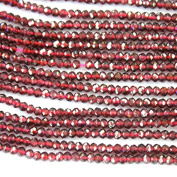 Faceted Natural Garnet Rondelle 2*3mm High Quality Gemstone Loose Beads Jewerly Making Findings