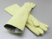 HIGH TEMPERATURE GLOVES HEAT RESISTANT KEVLAR FURNACE GLOVES SMELTING PAIR 60cm L