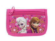 Disney Frozen Elsa and Anna Tri Fold Kids Wallet Hot Pink
