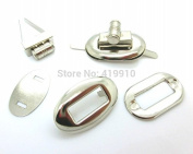 10 Sets Silver Tone Handbag Bag Accessories Purse Twist Turn Lock 28x37mm 32x17mm 26x16mm 32x20mm 32x19mm