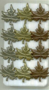 Metallic Assorted Leaf Brads Leaves