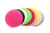 100 Pieces (3.8cm ) Assorted Colours Felt Circles LIKA Felt Circles Non-Adhesive Round Felt