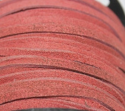 3mm - Genuine Split Suede Leather Lace - (1.6-1.9mm Thick) -Various Colours - Packing in 5 Yards, 10 Yards - Hank and 25 Yards per Spool (10 Yards, Pink