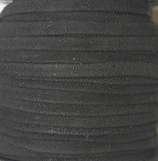 Genuine Suede Leather - 4 Mm Wide X 1 Mm Thick Fold Over (Folded & Pasted) - Various Colours - Packing of 1 Yard, 5 Yards, 10 Yards in Hank and 25 Yards in Spool (10 Yards, Black