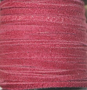 2.5mm Width - Very Thin Suede Lace (0.5-0.7 Thickness) - Genuine Suede Leather - 25 Yards Per Spool - Available in Many Colours (Corrida Red