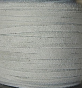 2.5mm Width - Very Thin Suede Lace (0.5-0.7 Thickness) - Genuine Suede Leather - 25 Yards Per Spool - Available in Many Colours (Off White