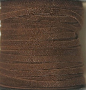 2.5mm Width - Very Thin Suede Lace (0.5-0.7 Thickness) - Genuine Suede Leather - 25 Yards Per Spool - Available in Many Colours (Medium Brown