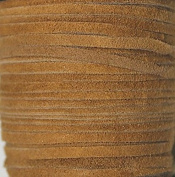2.5mm Width - Very Thin Suede Lace (0.5-0.7 Thickness) - Genuine Suede Leather - 25 Yards Per Spool - Available in Many Colours (Camel