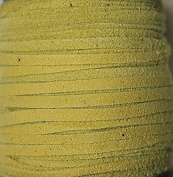 2.5mm Width - Very Thin Suede Lace (0.5-0.7 Thickness) - Genuine Suede Leather - 25 Yards Per Spool - Available in Many Colours (Yellow