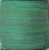 2.5mm Width - Very Thin Suede Lace (0.5-0.7 Thickness) - Genuine Suede Leather - 25 Yards Per Spool - Available in Many Colours (Bright Green