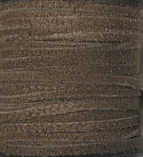 2.5mm Width - Very Thin Suede Lace (0.5-0.7 Thickness) - Genuine Suede Leather - 25 Yards Per Spool - Available in Many Colours (Red Brown