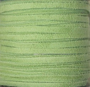 2.5mm Width - Very Thin Suede Lace (0.5-0.7 Thickness) - Genuine Suede Leather - 25 Yards Per Spool - Available in Many Colours (Lime Green
