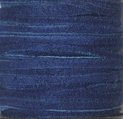 2.5mm Width - Very Thin Suede Lace (0.5-0.7 Thickness) - Genuine Suede Leather - 25 Yards Per Spool - Available in Many Colours (Royal Blue