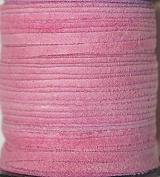 2.5mm Width - Very Thin Suede Lace (0.5-0.7 Thickness) - Genuine Suede Leather - 25 Yards Per Spool - Available in Many Colours (Pink